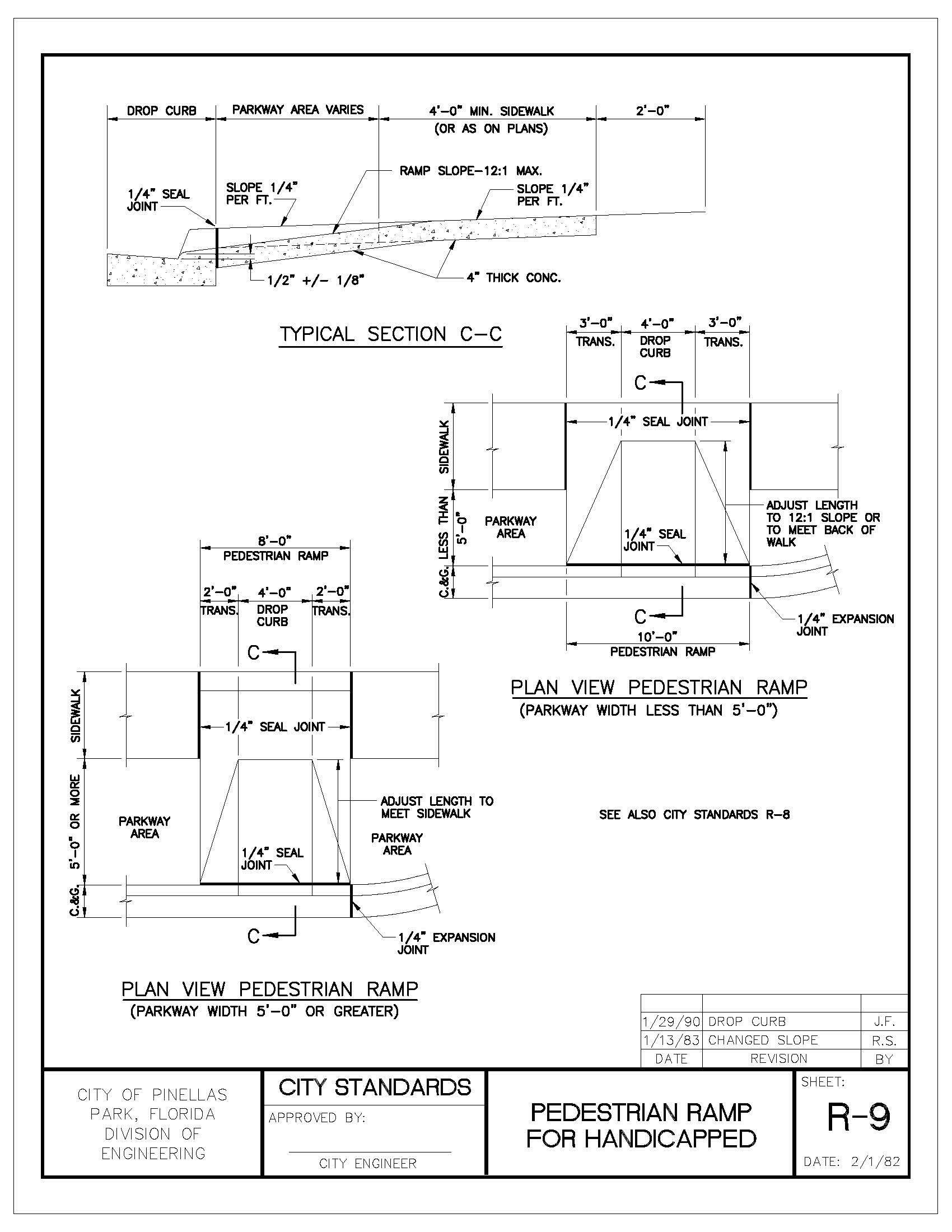 Engineering Manual v5_201908121127291138_Page_046 pedestrian ramp for handicapped