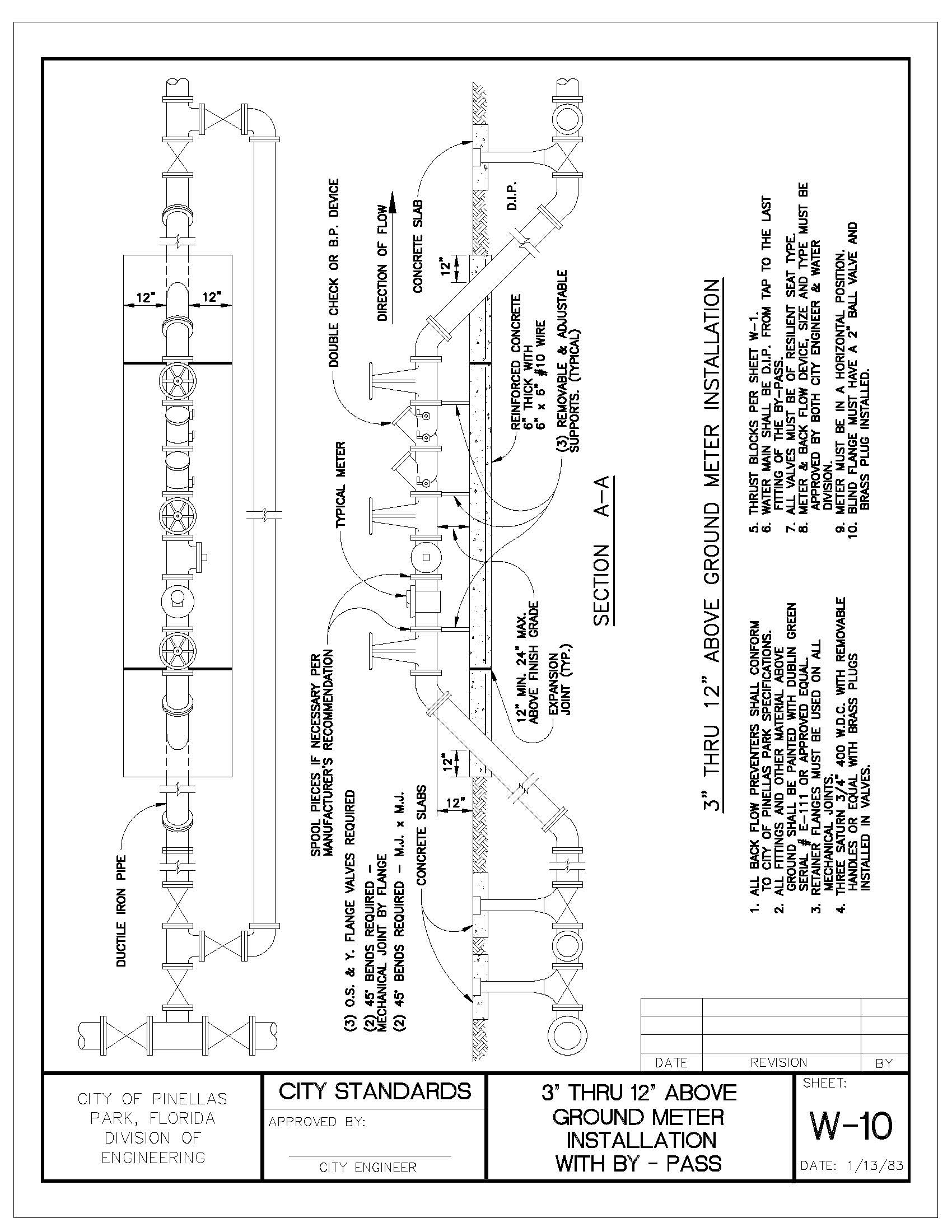 "Engineering Manual v5_201908121127291138_Page_084 3"" THRU 12"" ABOVE GROUND METER INSTALLATION"